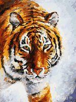 """Картина по номерам """"Тигр на снегу"""" (300х400 мм)"""