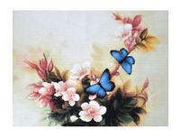 """Алмазная вышивка-мозаика """"Синие бабочки"""" (350х250 мм)"""