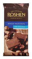"""Шоколад молочный """"Roshen"""" (90 г; с цельным лесным орехом)"""