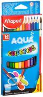 """Акварельные карандаши """"Color Peps Aqua"""" (12 штук; + кисточка)"""
