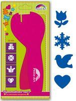 """Дырокол фигурный """"Тюльпан, снежинка, голубь, сердце"""" (10 мм; со сменными насадками)"""