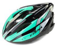 """Шлем велосипедный """"WT-040"""" (чёрный/зелёный/белый)"""