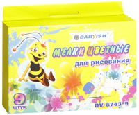 """Мелки цветные """"Пчелка"""" (9 цветов)"""