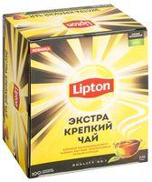 """Чай черный """"Lipton. Экстра крепкий"""" (100 пакетиков)"""