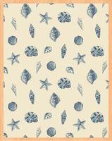 """Простыня хлопковая на резинке """"Shells"""" (180х200 см)"""