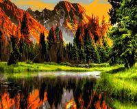 "Картина по номерам ""Горный пейзаж"" (400х500 мм)"