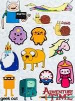 "Набор виниловых наклеек №10 ""Adventure Time"""