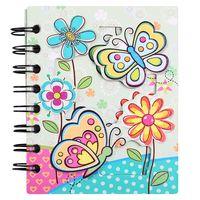 """Блокнот в линейку на спирали """"Бабочки с цветами"""" (А6)"""