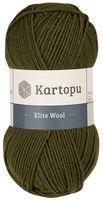 "Пряжа ""KARTOPU. Elite Wool №K410"" (100 г; 220 м; оливковый)"
