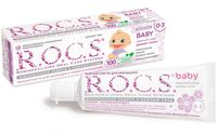 "Зубная паста ""R.O.C.S. Baby. Нежный уход. Аромат Липы"" для малышей от 0 до 3 лет (45 г)"