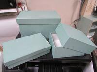 "Подарочная коробка ""Кубышка"" (11х18х4 см, бирюза)"