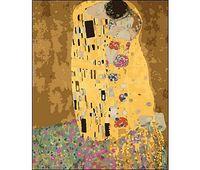 "Картина по номерам ""Густав Климт. Поцелуй"" (400x500 мм)"