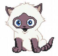 """Вышивка крестом """"Черно-белый котенок"""""""