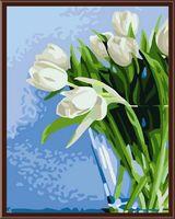 """Картина по номерам """"Белые цветы"""" (300х400 мм)"""