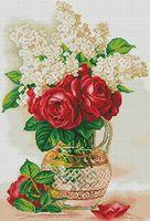 """Алмазная вышивка-мозаика """"Розы и сирень"""""""