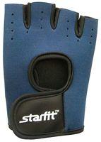Перчатки для фитнеса SU-107 (L; тёмно-синие/чёрные)