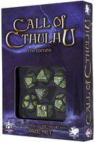 "Набор кубиков ""Call of Cthulhu"" (7 шт.; черно-зеленый)"