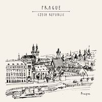 """Репродукция на холсте """"Прага. Чехия"""""""
