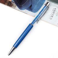 """Ручка шариковая черная """"Sky Blue Crystal"""" (1,0 мм)"""
