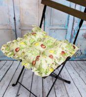 """Подушка на стул """"Ажур"""" (35х35 см; зелёная)"""