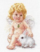 """Вышивка крестом """"Ангел Хранитель"""" (100х140 мм)"""