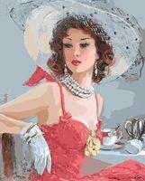 "Картина по номерам ""Дама в шляпе"" (400х500 мм)"