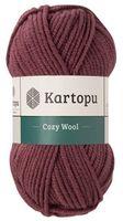 "Пряжа ""KARTOPU. Cozy Wool №K1707"" (100 г; 110 м; винный)"