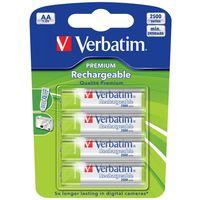 Аккумуляторы AA Verbatim Premium 2450 мАч (4 шт)