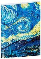 """Блокнот белый """"Ван Гог. Звездная ночь"""" А7 (арт. 387)"""