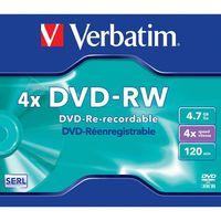 Диск DVD-RW 4.7Gb 4х Verbatim Slim