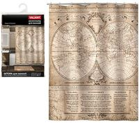 "Шторка для ванной ""History Map"" (145х180 см)"