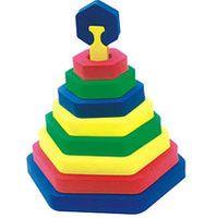 """Развивающая игрушка """"Пирамидка-шестиугольник"""""""