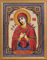 """Вышивка бисером """"Икона Божией Матери Умягчение злых сердец"""""""
