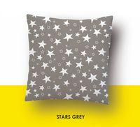 """Наволочка хлопковая """"Stars Grey"""" (70x70 см)"""