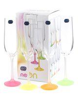 """Бокал для шампанского стеклянный """"Neon Frozen"""" (4 шт.; 190 мл)"""