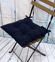 """Подушка на стул """"Velours"""" (42х42 см; темно-синяя)"""