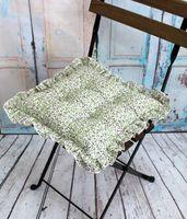 "Подушка на стул ""Ажур"" (35х35 см; молочно-зелёный)"