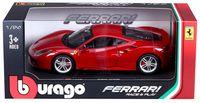 """Модель машины """"Bburago. Ferrari 488 GTB"""" (масштаб: 1/24)"""