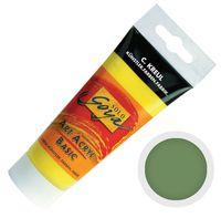 "Краска акриловая матовая ""Solo Goya Basic"" 20 (100 мл; зеленая листва)"