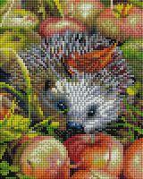 """Алмазная вышивка-мозаика """"Яблочный ёжик"""" (200х250 мм)"""