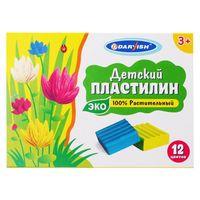 Пластилин растительный детский (12 цветов)