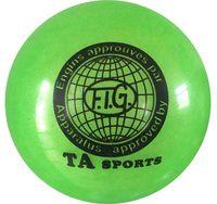 Мяч для художественной гимнастики RGB-102 (19 см; зелёный с блёстками)