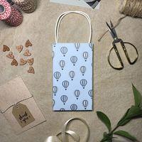 """Пакет бумажный подарочный """"Воздушные шары"""" (12x20,5x5 см)"""