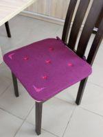 "Подушка на стул ""Незабудка"" (38х38 см; сирень)"