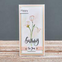 """Конверт для денег """"Happy Birthday"""" (арт. 19-K-419)"""