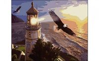 "Картина по номерам ""Орлы и маяк"" (400x500 мм)"