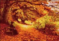 """Картина по номерам """"Однажды осенью"""" (400x500 мм; арт. MG194)"""