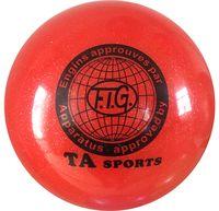 Мяч для художественной гимнастики RGB-102 (19 см; красный с блёстками)