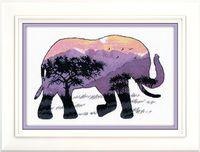 """Вышивка крестом """"Мир животных. Слон"""" (250х170 мм)"""