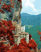 "Картина по номерам ""Дом в горах"" (400х500 мм)"